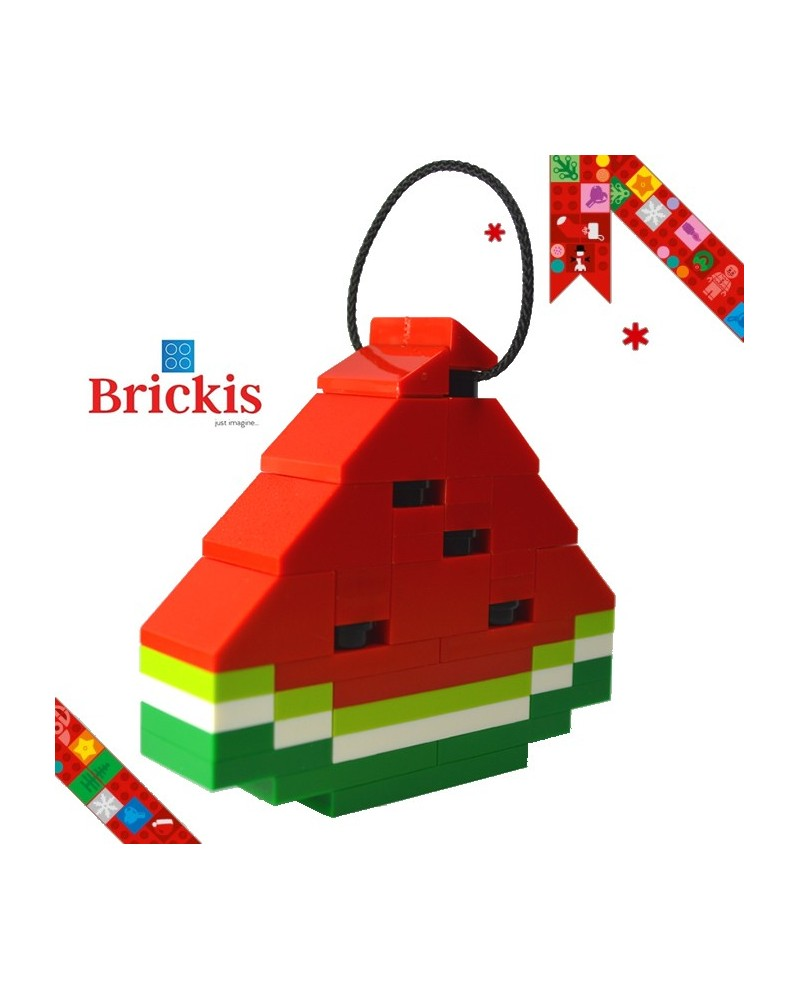 LEGO® ornament watermelon for Christmas or table decoration