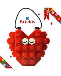 Ornement LEGO® cœur pour Noël ou décoration de table