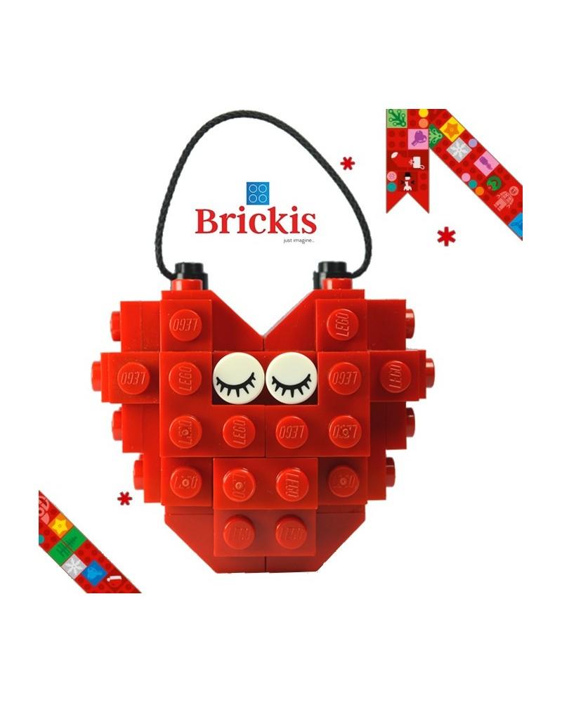 LEGO® Ornament Herz für Weihnachten oder Tischdekoration