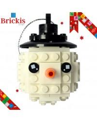 Ornement LEGO® bonhomme de neige pour Noël ou décoration de table