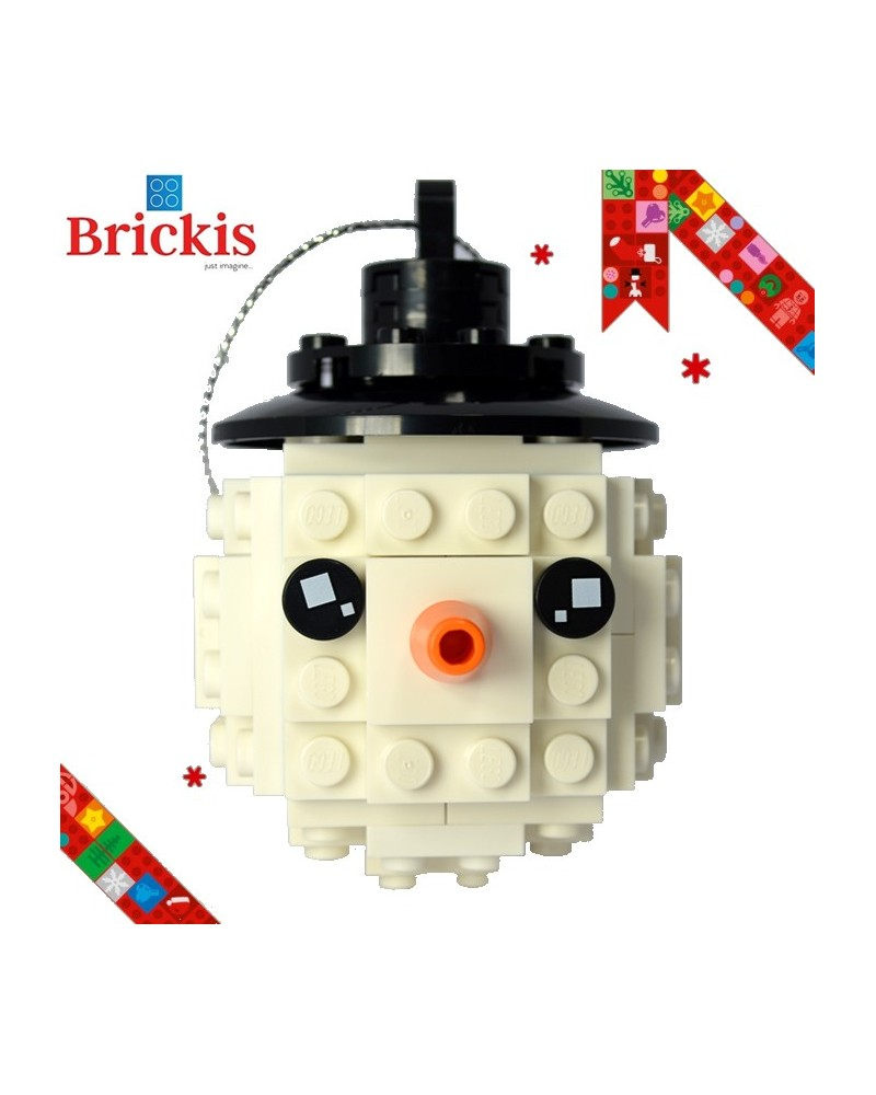 LEGO® ornament snowman for Christmas or table decoration