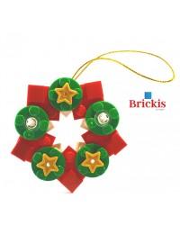 LEGO® Ornament WEIHNACHTSKRANZ für Weihnachten oder Tischdekoration