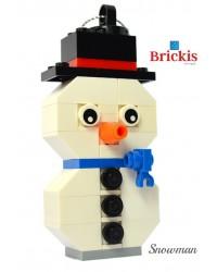 Schneemann LEGO® Ornament für Weihnachten oder Tischdekoration