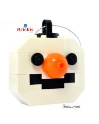 Sneeuwman LEGO® ornament voor kerst of tafeldecoratie