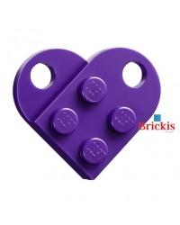 LEGO Herz dark purple