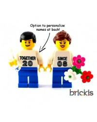 Minifiguras LEGO® Pareja personalizadas San Valentín