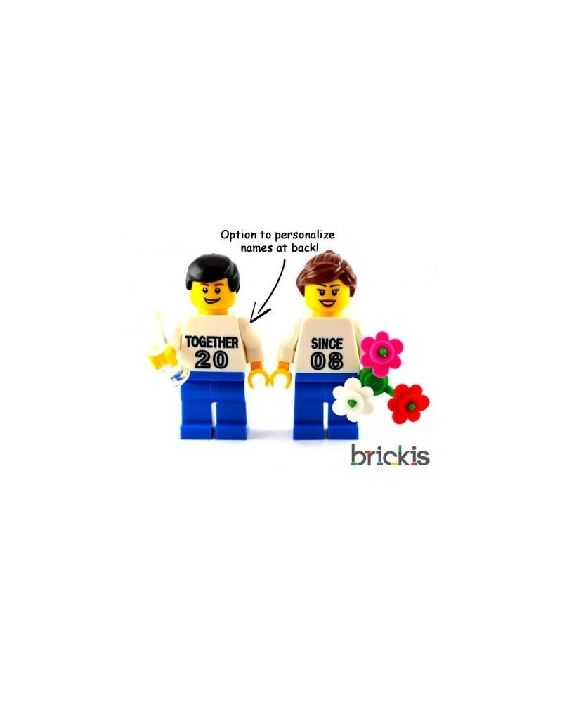 LEGO® Minifiguren Valentinstag graviert mit namen