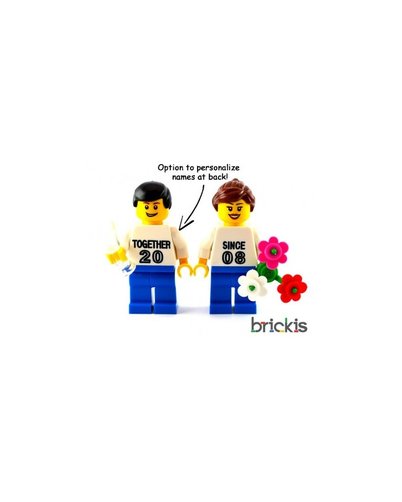 LEGO® Minifigures Valentine's day engraved with names