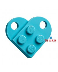 LEGO® heart medium azure