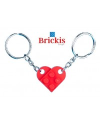 LEGO® KEYCHAIN HEART double 1 for her 1 for him