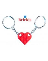LEGO® sleutelhanger HART dubbel 1 voor haar 1 voor hem