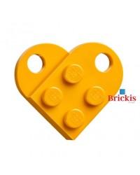 LEGO Herz dark bright orange