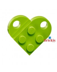 LEGO® heart lime green