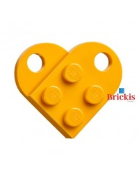 LEGO® heart dark bright orange