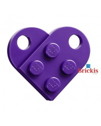 LEGO Herz dark purple