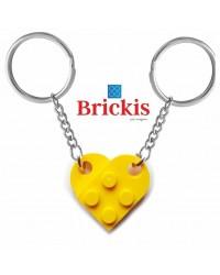 LEGO® dubbele sleutelhanger HART geel