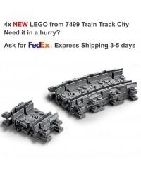 Genuino LEGO® 4x Tren Riel flexible Ferrocarril City- 64022 7499
