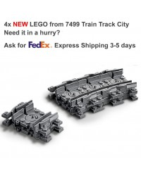 LEGO® 4x Train flexible Track Rail Railway City Town - 64022 7499