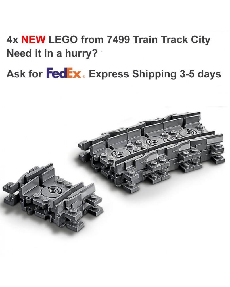 LEGO® 4x flexibel spoor TREIN Rail Railway City - 64022 7499