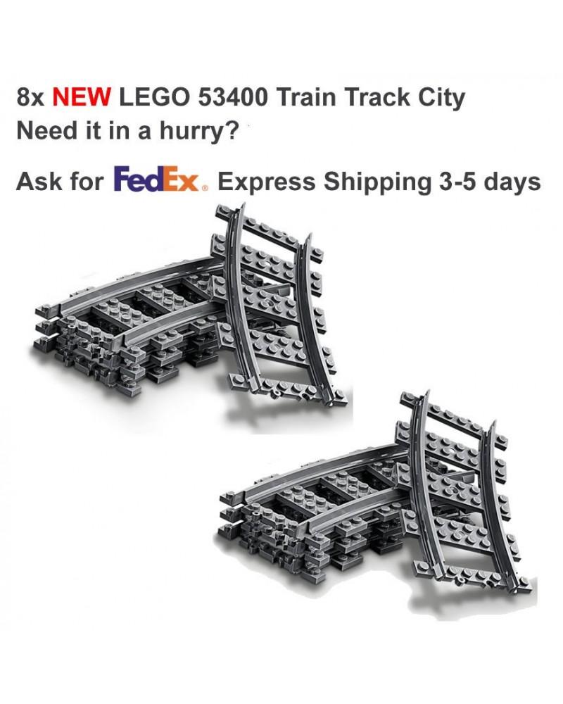LEGO® 8x voie courbé de chemin de fer de train LEGO City - 53400 6037688