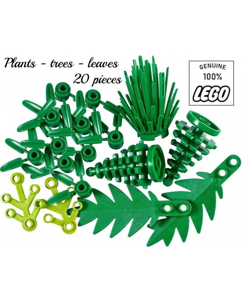 LEGO® set 20 bladeren stengels palmbladen dennenboom struik bladeren