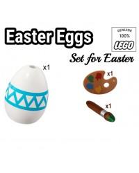 LEGO® 1 œuf de Pâques + 1 pinceau + 1 palette à peindre