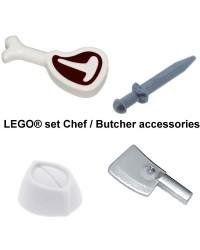 LEGO® Set für Chef oder Metzger oder Food Service