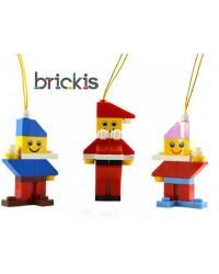 3 LEGO® Ornamente Weihnachten