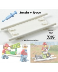 LEGO® STRETCHER + SERINGUE pour les médecins ambulanciers hospital