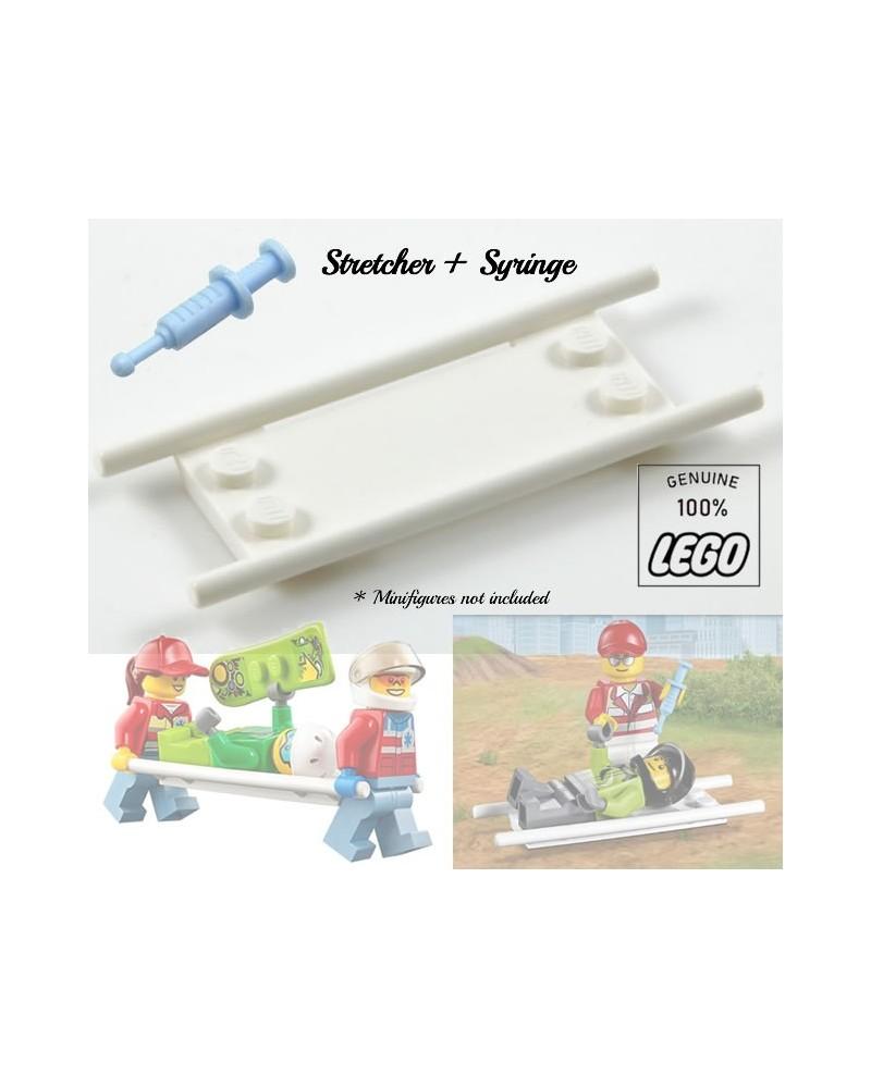 LEGO® STRETCHER + SPUIT voor paramedici dokters verpleegsters ziekenhuis