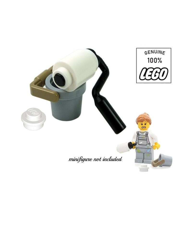 Accessoires LEGO® om te schilderen emmer + verfroller