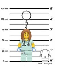 LEGO® Keychain tall minifigure 7,6 cm - 3 inch for Paramedics doctors nurses bright LED light in both feet