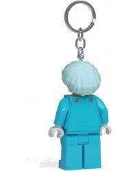 LEGO® Schlüsselanhänger große Minifigur 7,6 cm Chirurg Ärzt  Krankenschwester helles LED-Licht in beiden Füßen