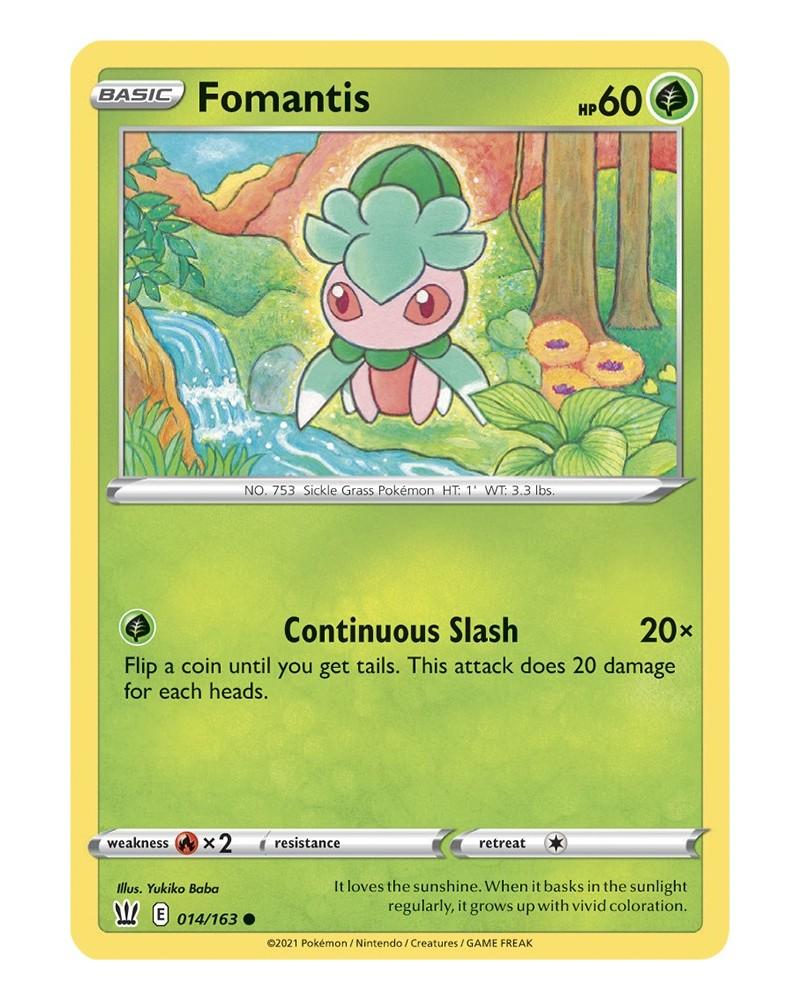 Pokémon trading card / kaart  Fomantis 014/163 Sword & Shield 5 Battle Styles OFFICIAL