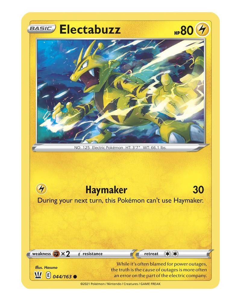 Pokémon trading card / kaart Electabuzz 044/163 Sword & Shield 5 Battle Styles OFFICIAL