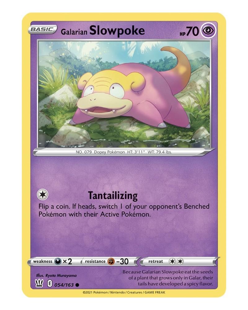 Pokémon trading card / kaart Galarian Slowpoke 054/163 Sword & Shield 5 Battle Styles OFFICIAL
