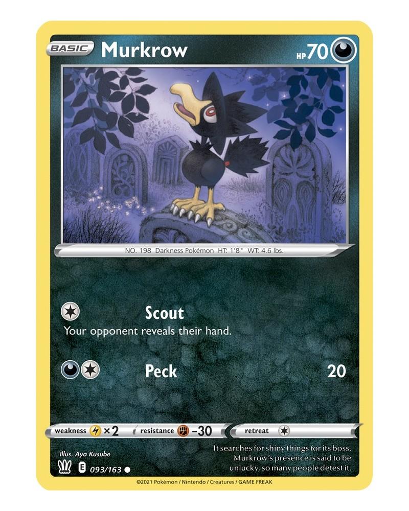 Pokémon trading card / kaart Murkrow 093/163 Sword & Shield 5 Battle Styles OFFICIAL