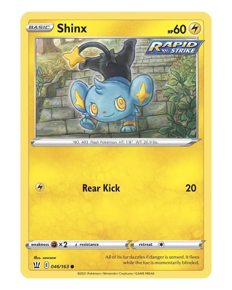 Pokémon trading card / kaart Shinx 046/163 Sword & Shield 5 Battle Styles OFFICIAL
