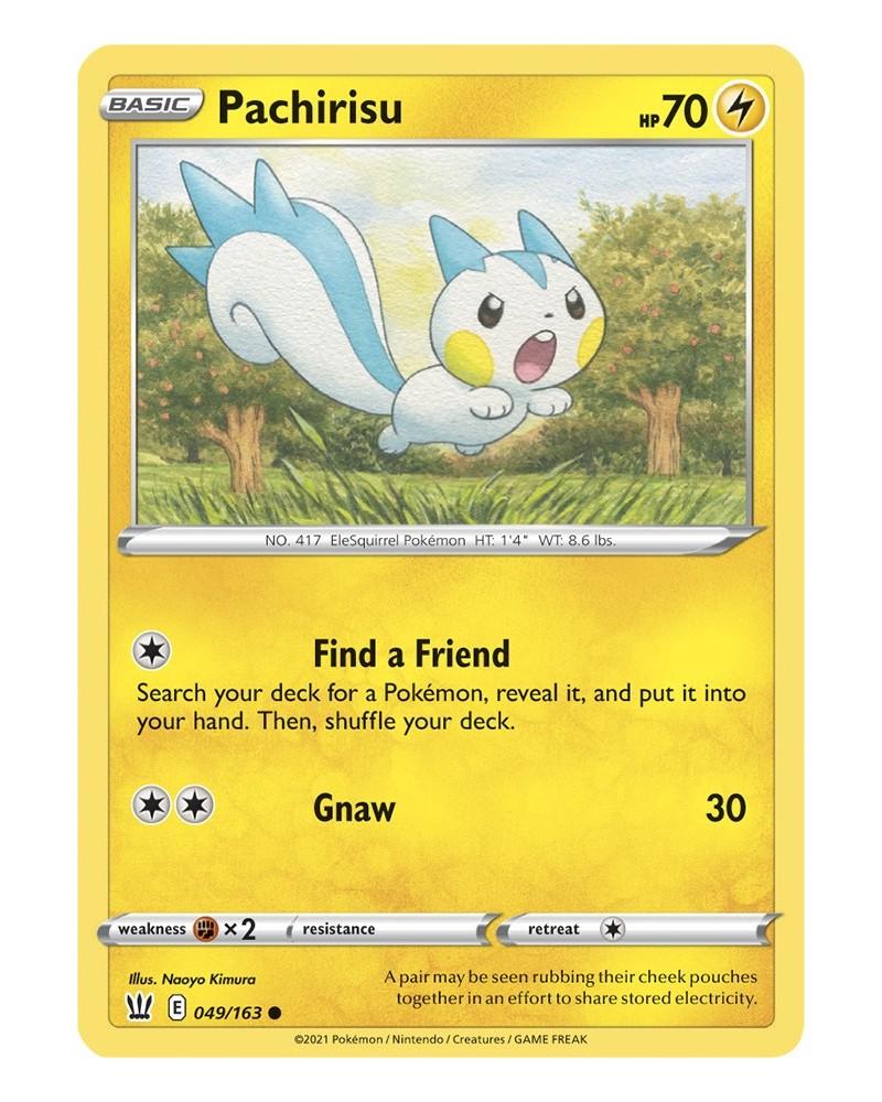 Pokémon trading card / kaart Pachirisu 049/163 Sword & Shield 5 Battle Styles OFFICIAL