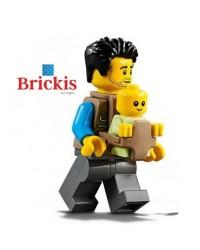 LEGO® minifiguren papa + baby in babydrager