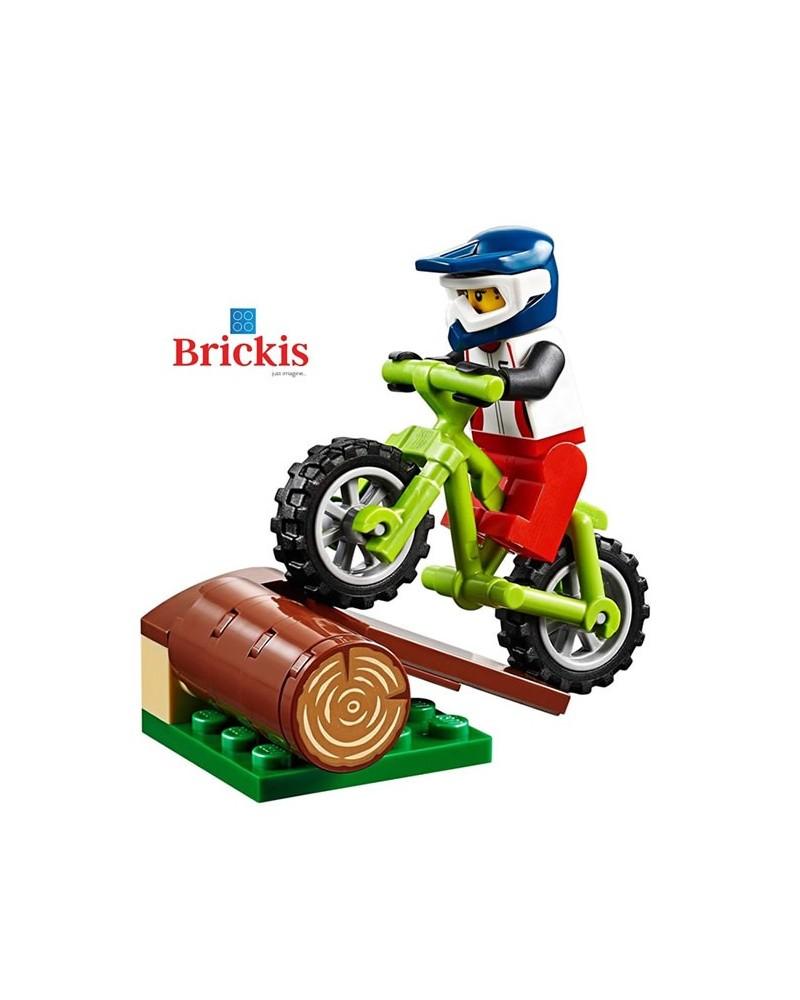 LEGO® MOUNTAIN BIKER Trail cycling minifig + Bike + trunk
