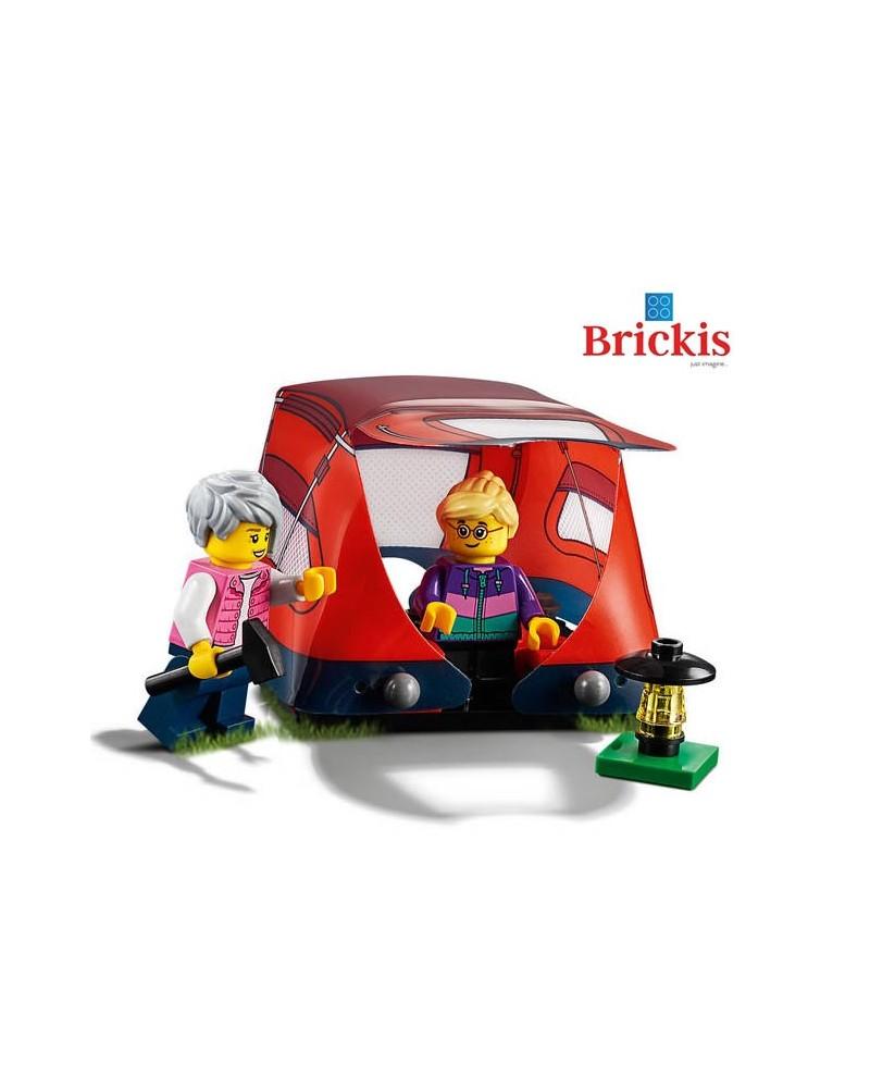 LEGO®  2 minifiguren op Camping met tent