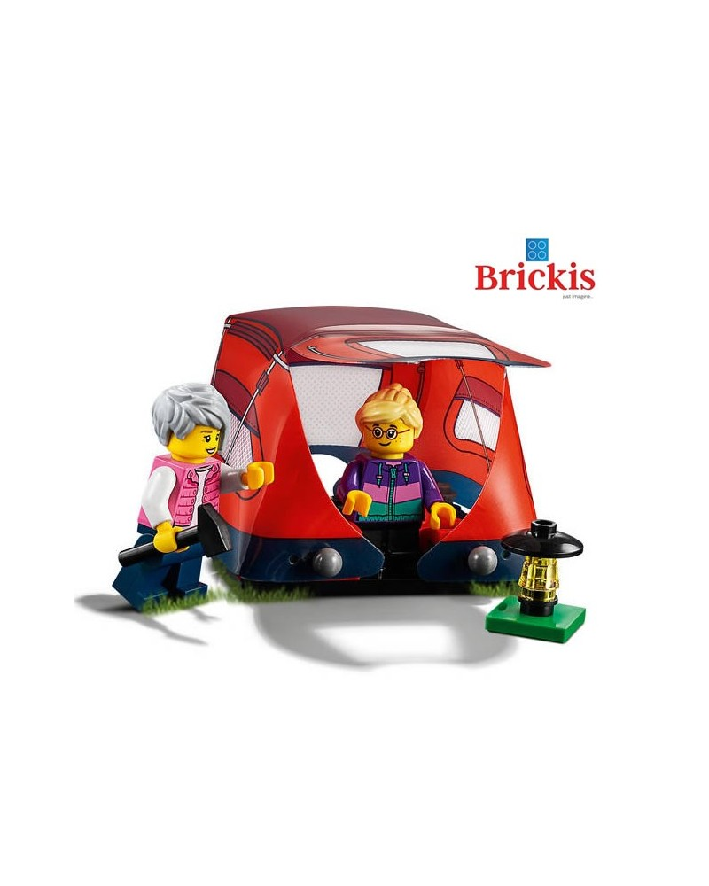 LEGO® 2 minifigures on Camping with tent