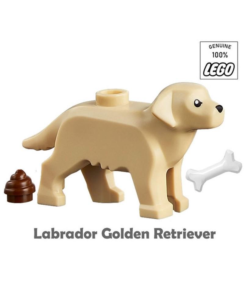 LEGO® hond GOLDEN RETRIEVER met been en poep 69962pb01