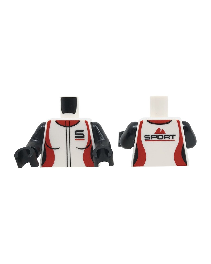 LEGO® Torso dames jumpsuit, rode kraag 973pb3161c01