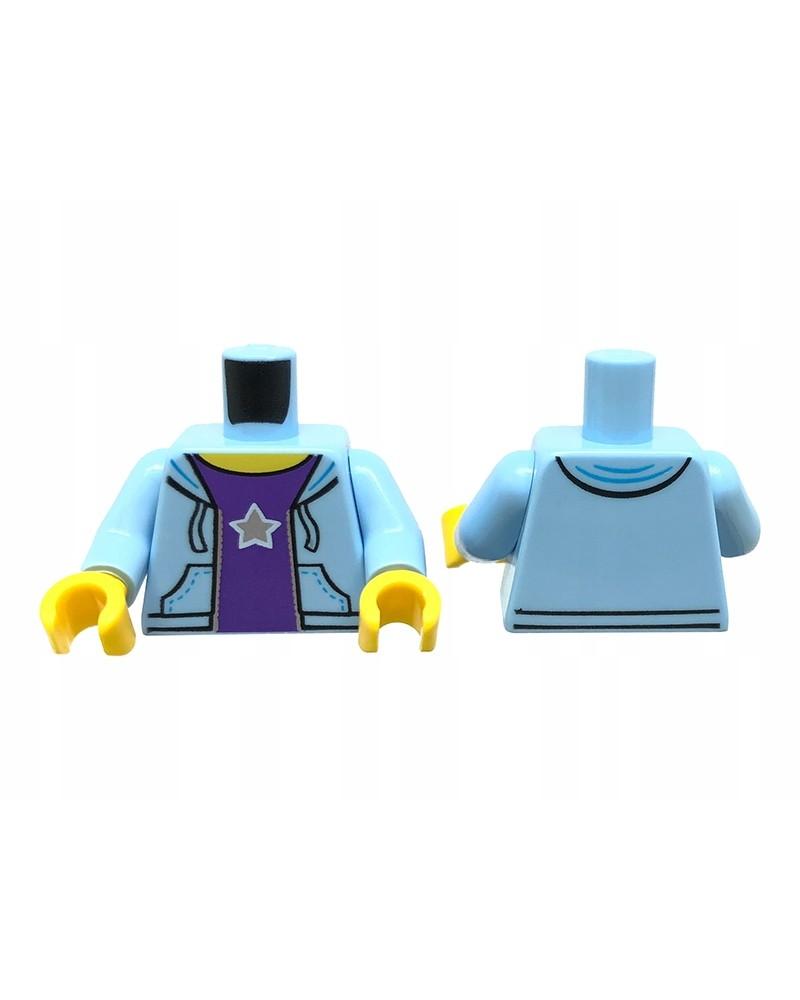 LEGO® Blauw paarse Torso met kap 973pb2339c01