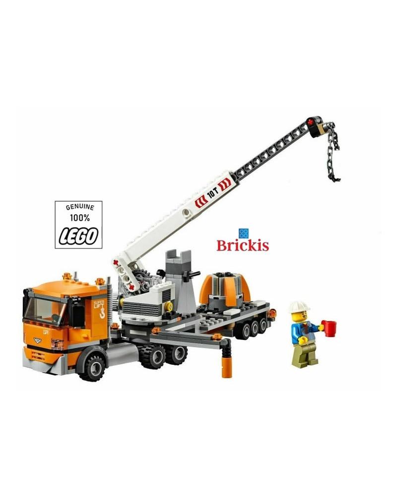 LEGO® City Kraan Aanhanger Vrachtwagen + 2 Minifiguren