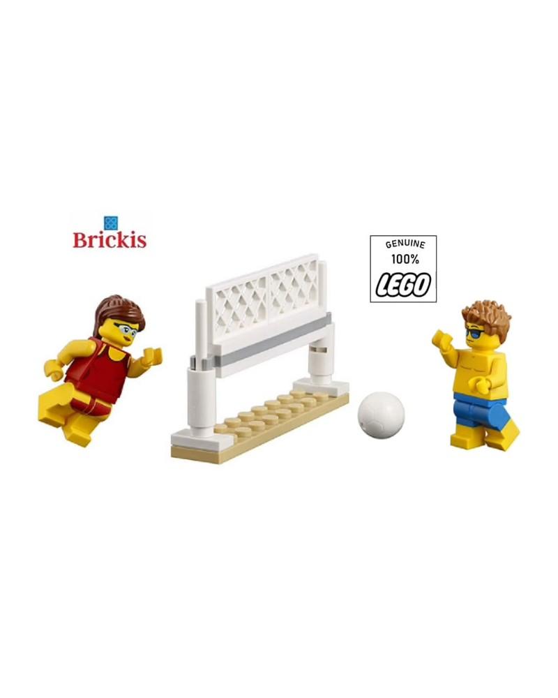 LEGO® Jongen en Meisje die Volleybal spelen op het Strand Minifiguren