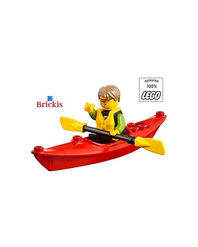LEGO® Plezier op het Strand Kajaker Minifiguur met Kajak