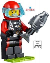 LEGO® Duiker in Duikerspak en Duikbril Plezier op het Strand